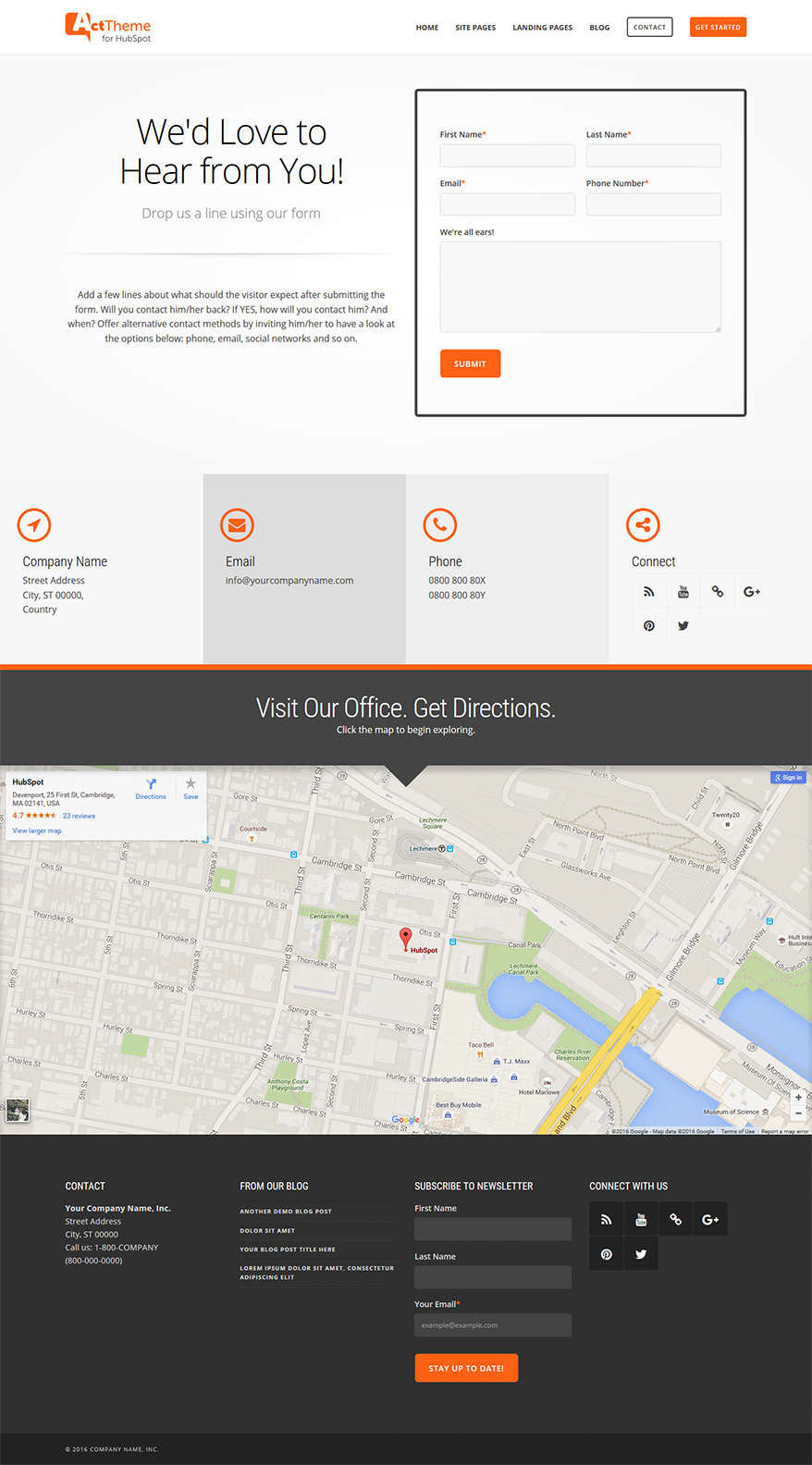 Act Contact I - Home Page Template for HubSpot
