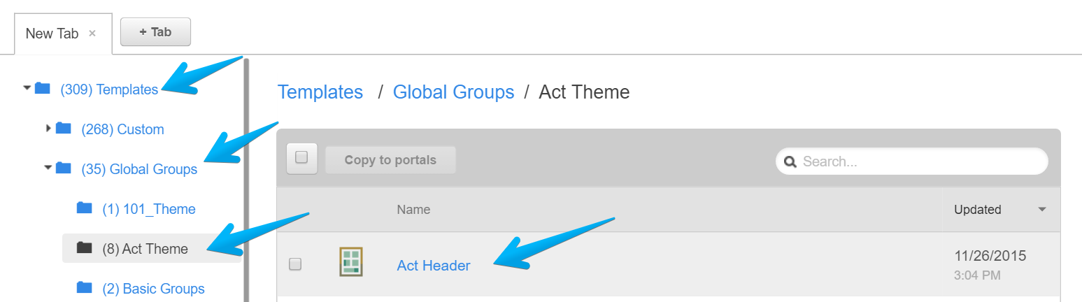 How to access Act Header in Act Theme for HubSpot