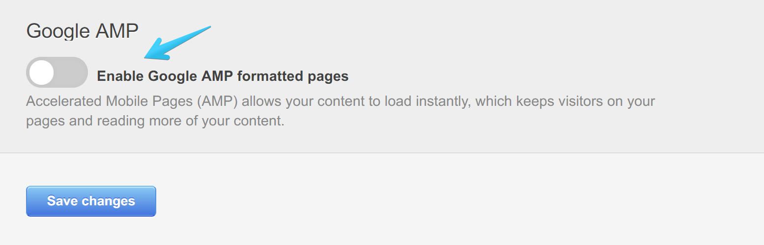 Act2 Content Settings Google AMP Disabled