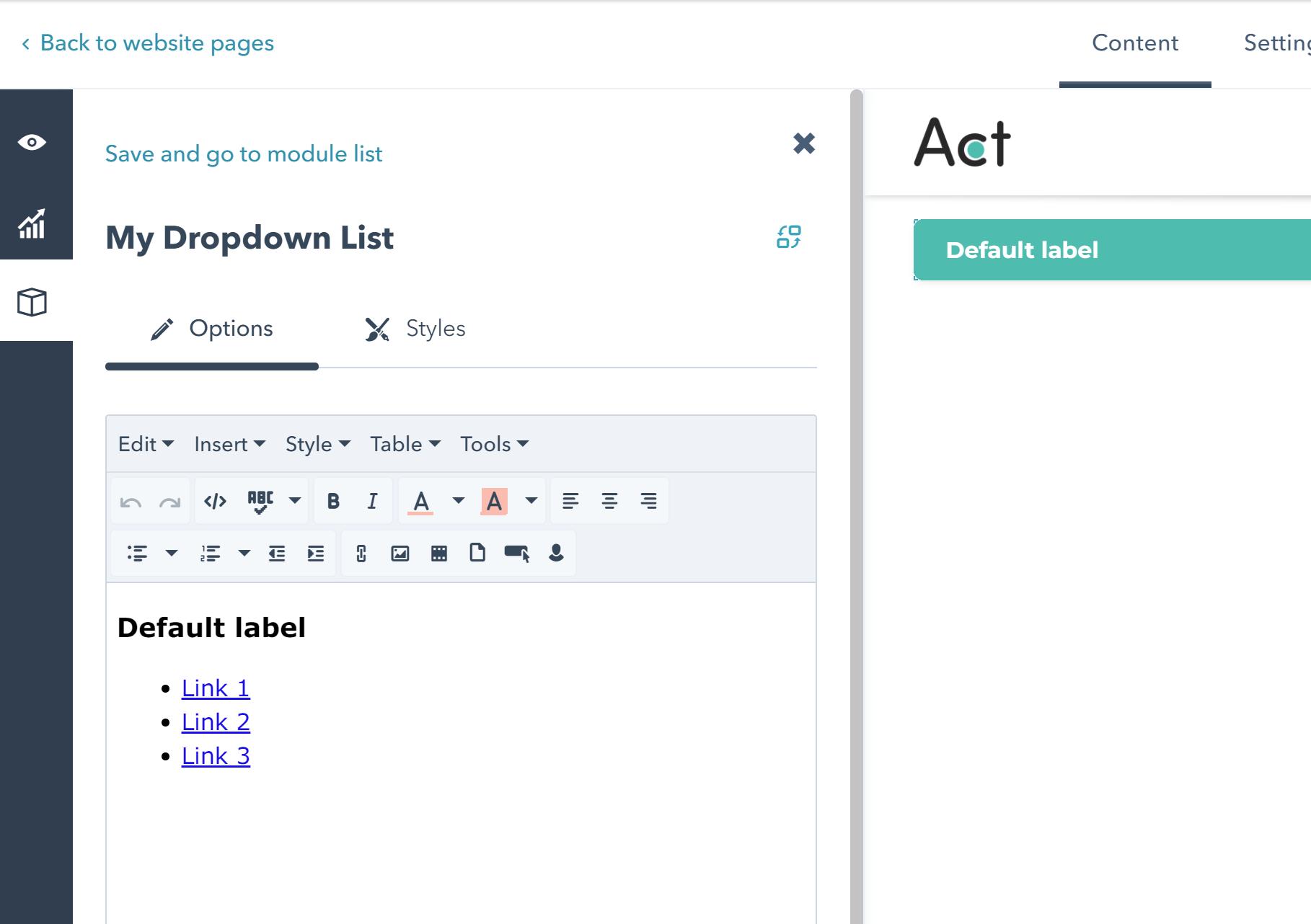 List Type Dropdown | Neambo