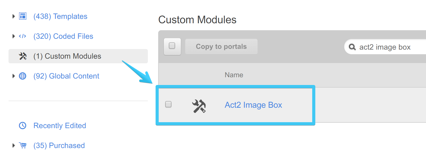 Act2 Template Builder Image Box Custom Module