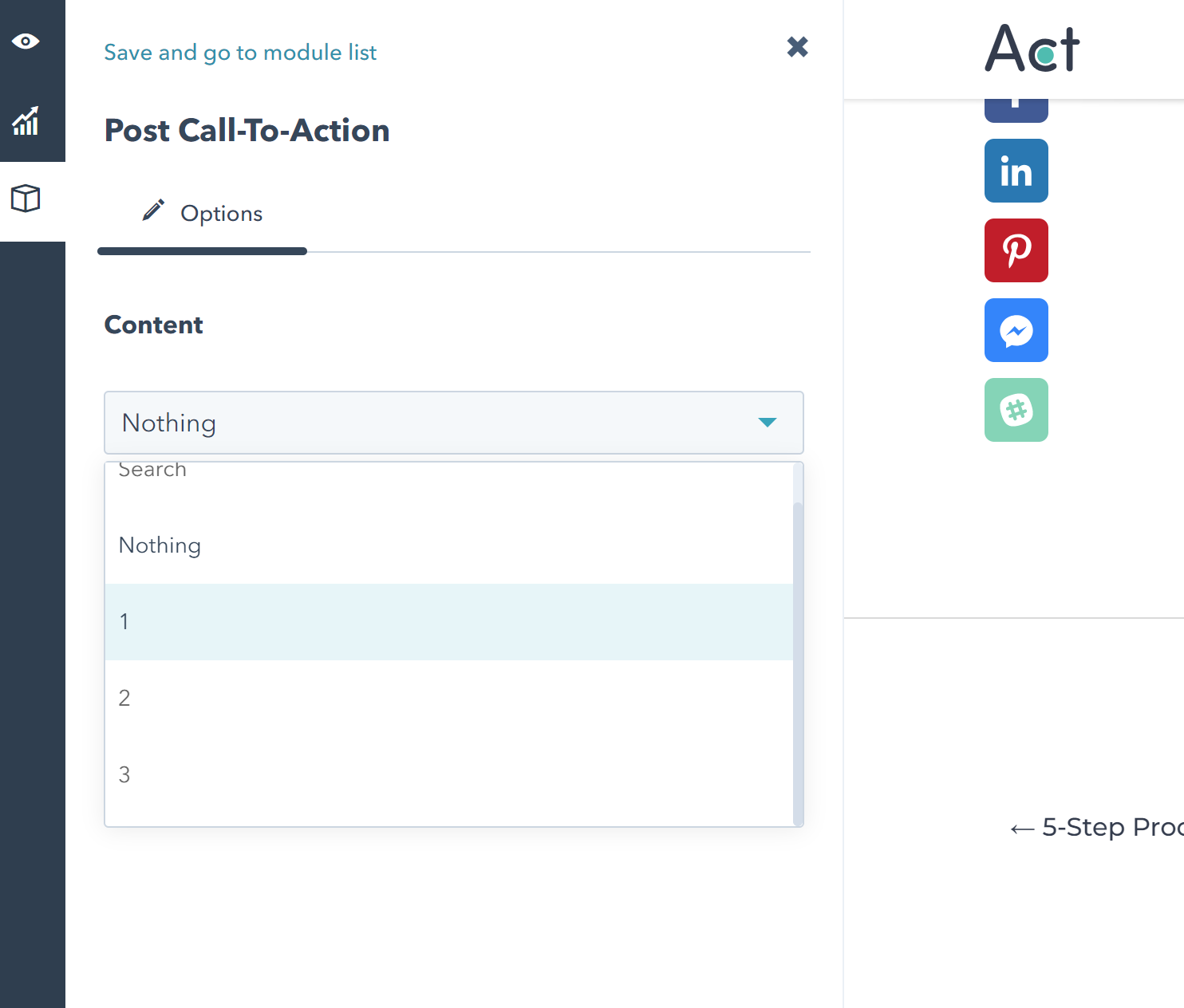 Act21 Blog II: Post Call to Action Options in the Post Editor