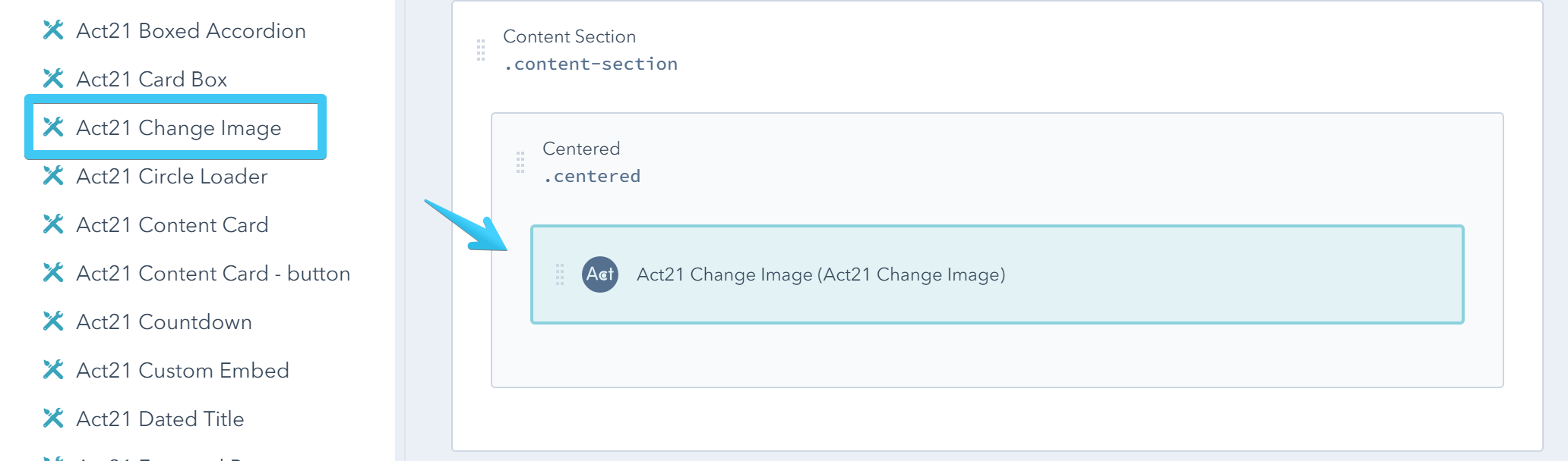 Act2 Template Builder Change Image Custom Module