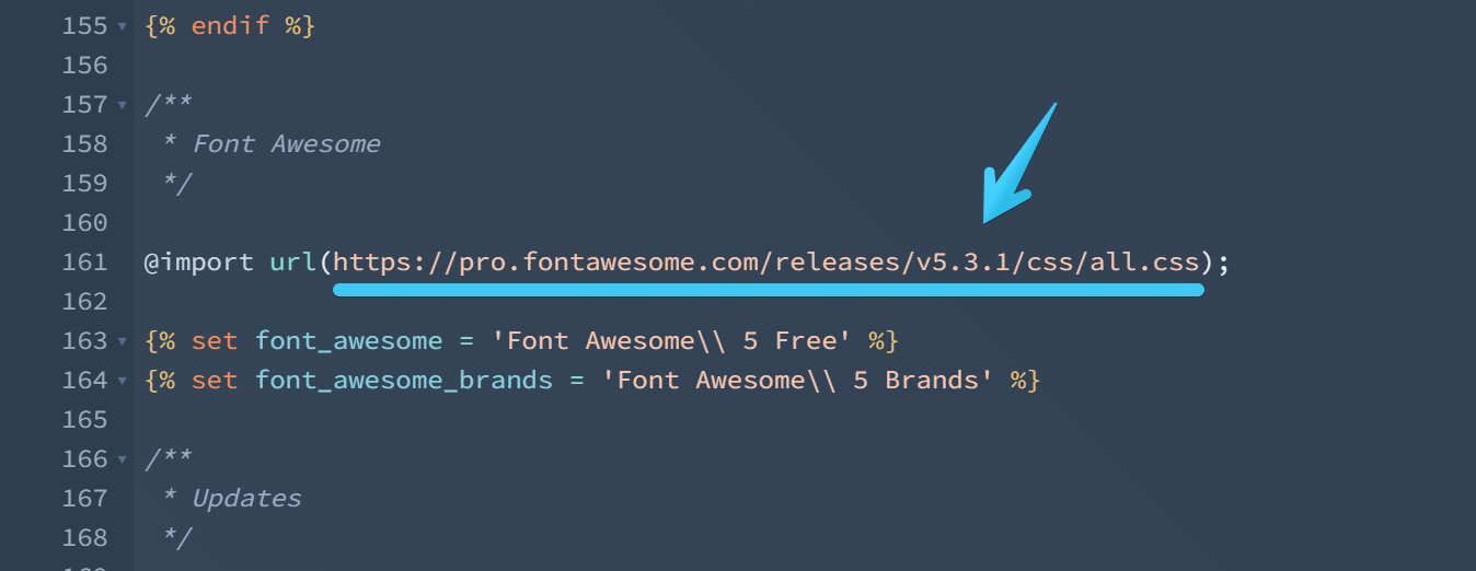 Act2.1 Font Awesome 5 Pro Integration - pro CSS file path