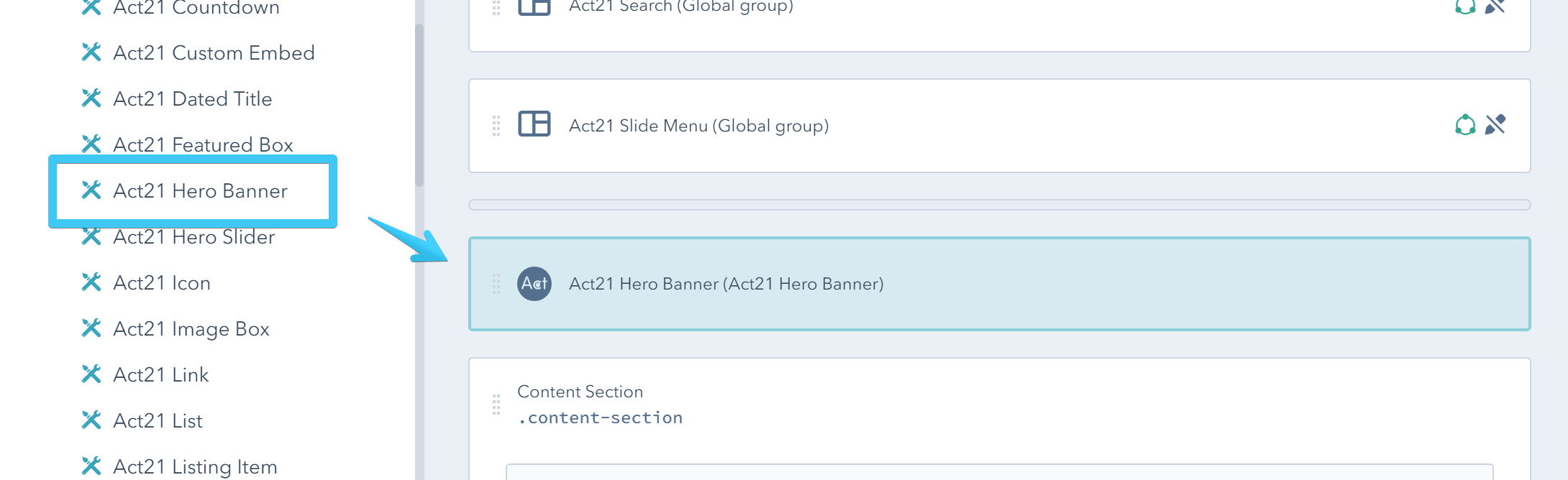 Act2 Template Builder Hero Banner Custom Module
