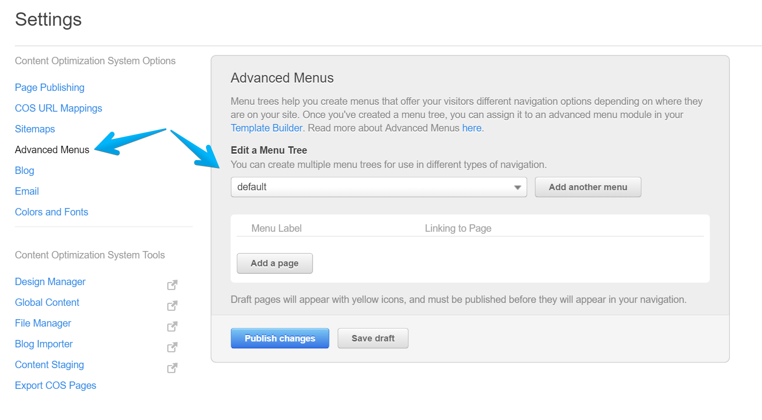 Advanced Menus in HubSpot | Menu Trees